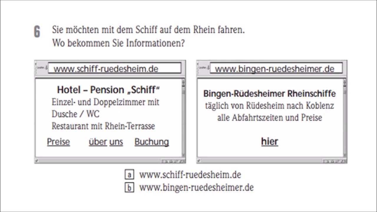 Start Deutsch A1 Lesen Alle Teile Mit Losungen Youtube