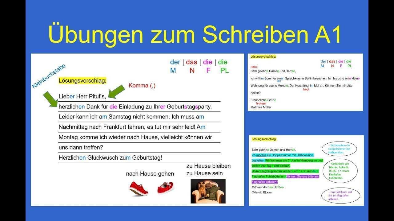 9 Ubungen Zum Schreiben A1 Goethe Zertifikat A1 Youtube