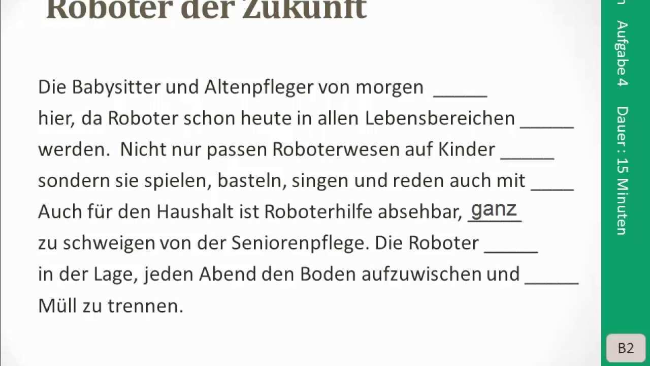 Goethe Zertifikat B2 Lesen Aufgabe 4 Youtube
