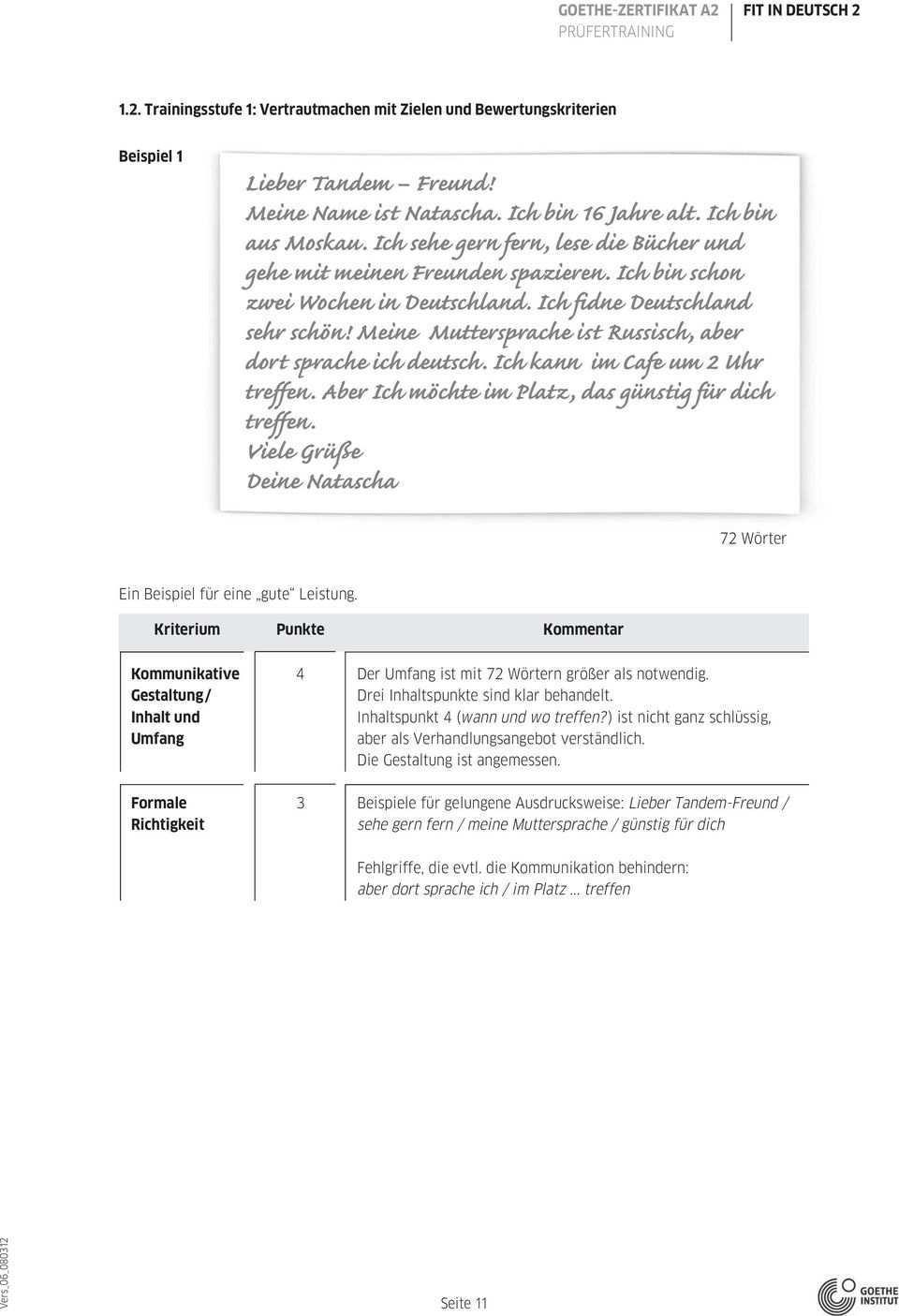 Goethe Zertifikat A2 Pdf Kostenfreier Download