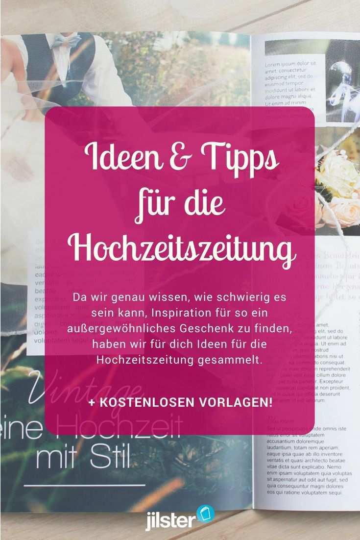 Fur Die Hochzeitszeitung Ideen Tipps Inspiration Jilster Hochzeitszeitung Hochzeitszeitung Gestalten Hochzeitszeitung Ideen