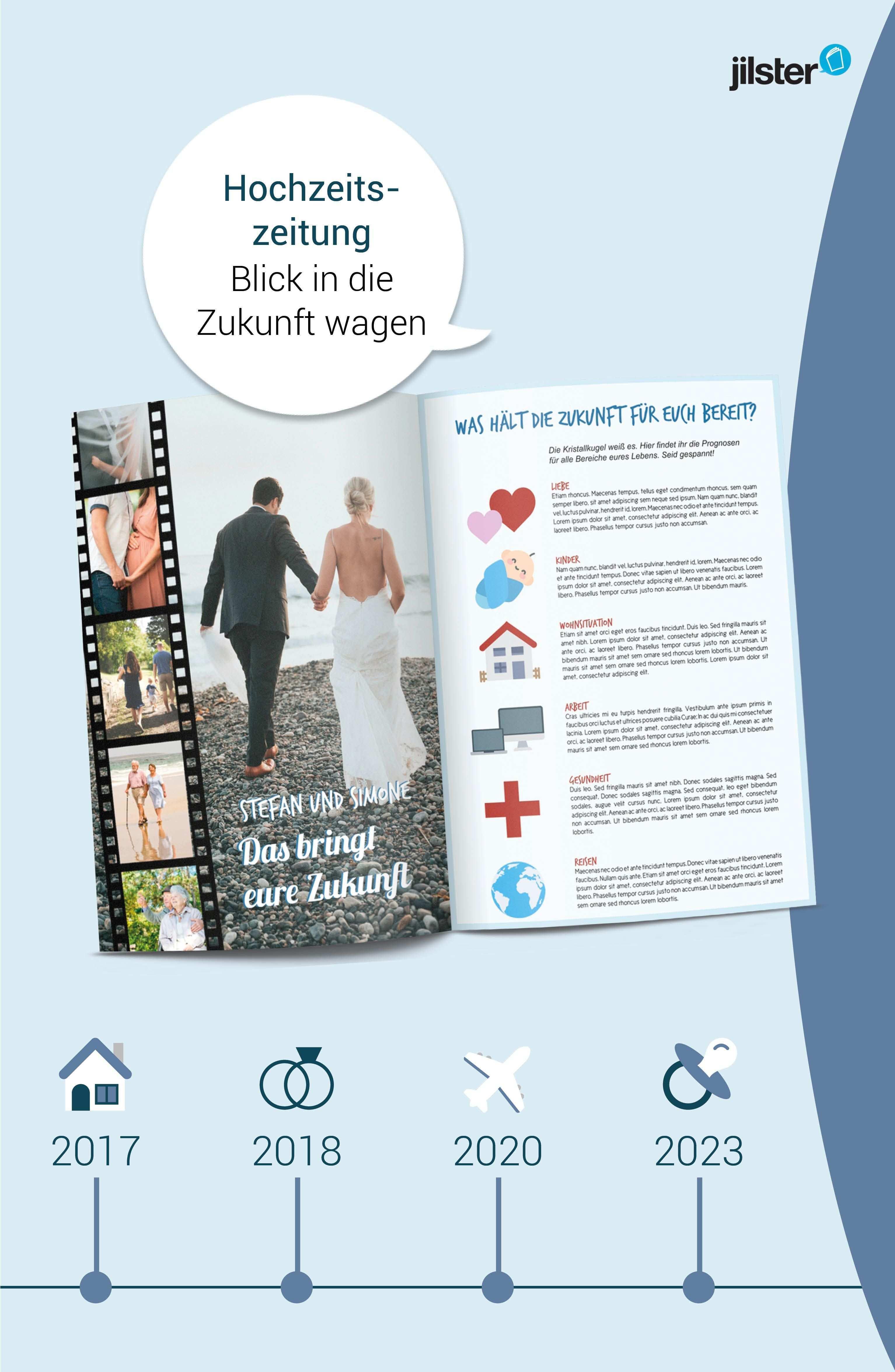 Hochzeitszeitung Die Zukunft Im Blick Jilster Blog Hochzeitszeitung Hochzeitszeitung Ideen Hochzeitszeitung Gestalten