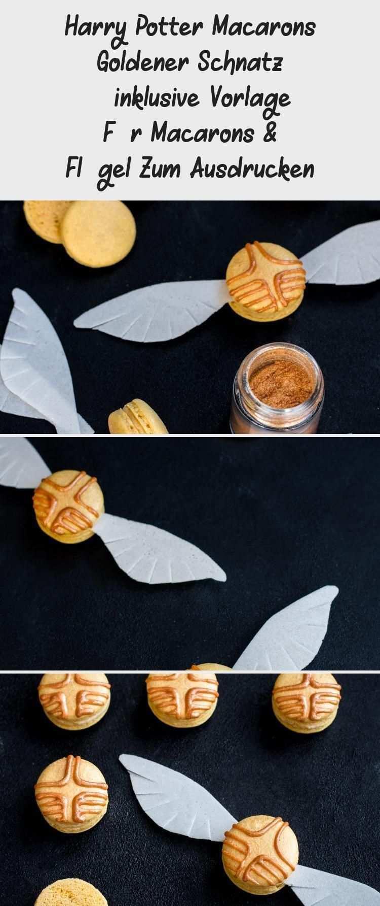Anleitung Rezept Harry Potter Macarons Goldener Schnatz Inklusive Vorlage Fur Macarons Flugel Zum Ausdrucken Macarons Macarons Rezept Goldener Schnatz