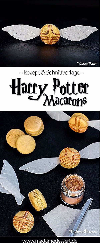 Harry Potter Macarons Goldener Schnatz Halloweenmacarons Anleitung Rezept Harry Potter Macarons In 2020 Harry Potter Desserts Harry Potter Snacks Harry Potter Cake