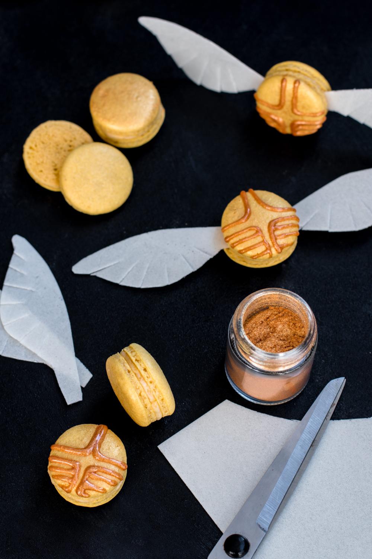 Harry Potter Macarons Goldener Schnatz Madame Dessert Einfacher Nachtisch Macarons Leckerbissen