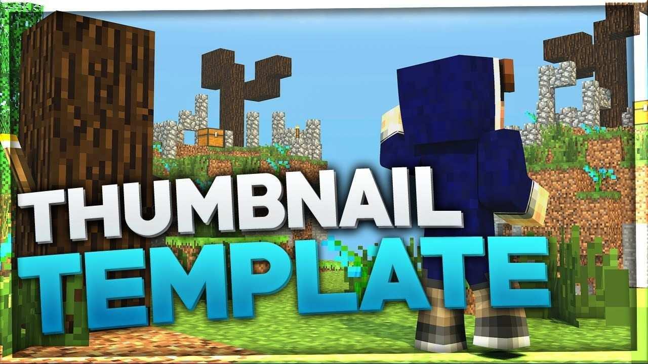 Epic Free Minecraft Thumbnail Template Baumblau Style Rici Vorlagen Thema Merken