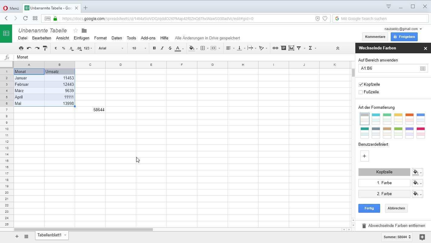 Google Tabellen Tipps Fur Das Kostenlose Online Excel Von Google