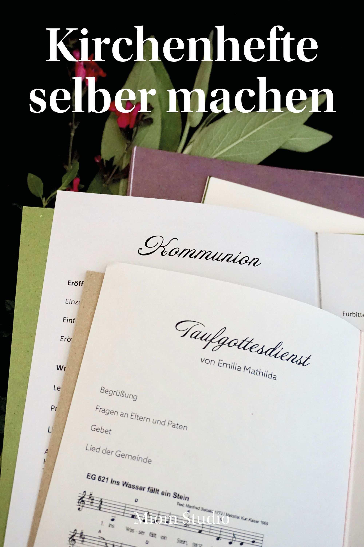 Kirchenheft Zum Selbermachen Ganz Einfach Mit Miom Studio Zur Taufe Kirchenheft Taufe