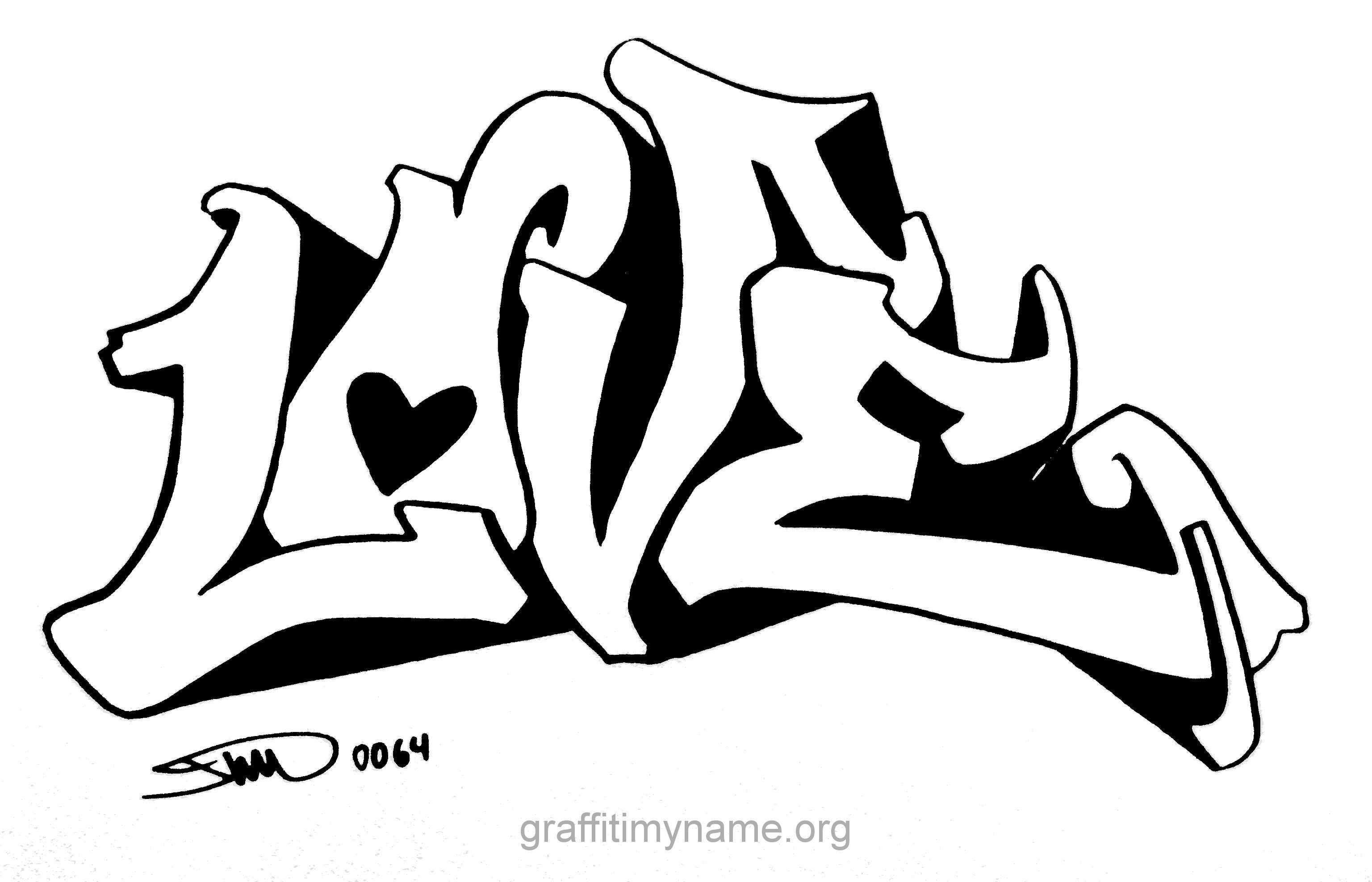 Frisch Malvorlagen I Love You Graffiti Graffiti Schriftart Malvorlagen