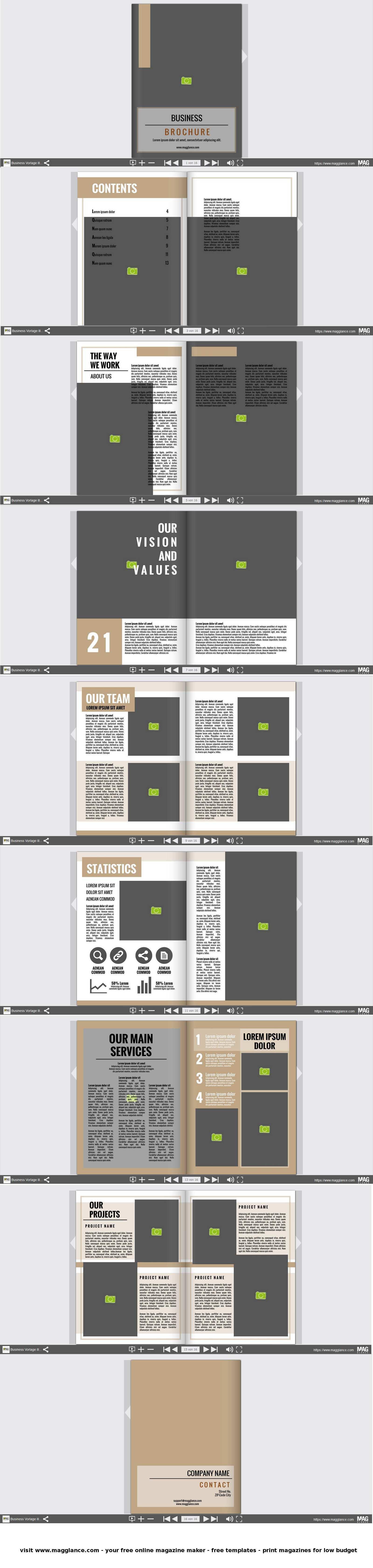 Business Broschure Kostenlos Online Erstellen Und Gunstig Drucken Unter De Magglance Com Broschure Firmenzeitung Broschure Vorlage Broschure Broschure Design