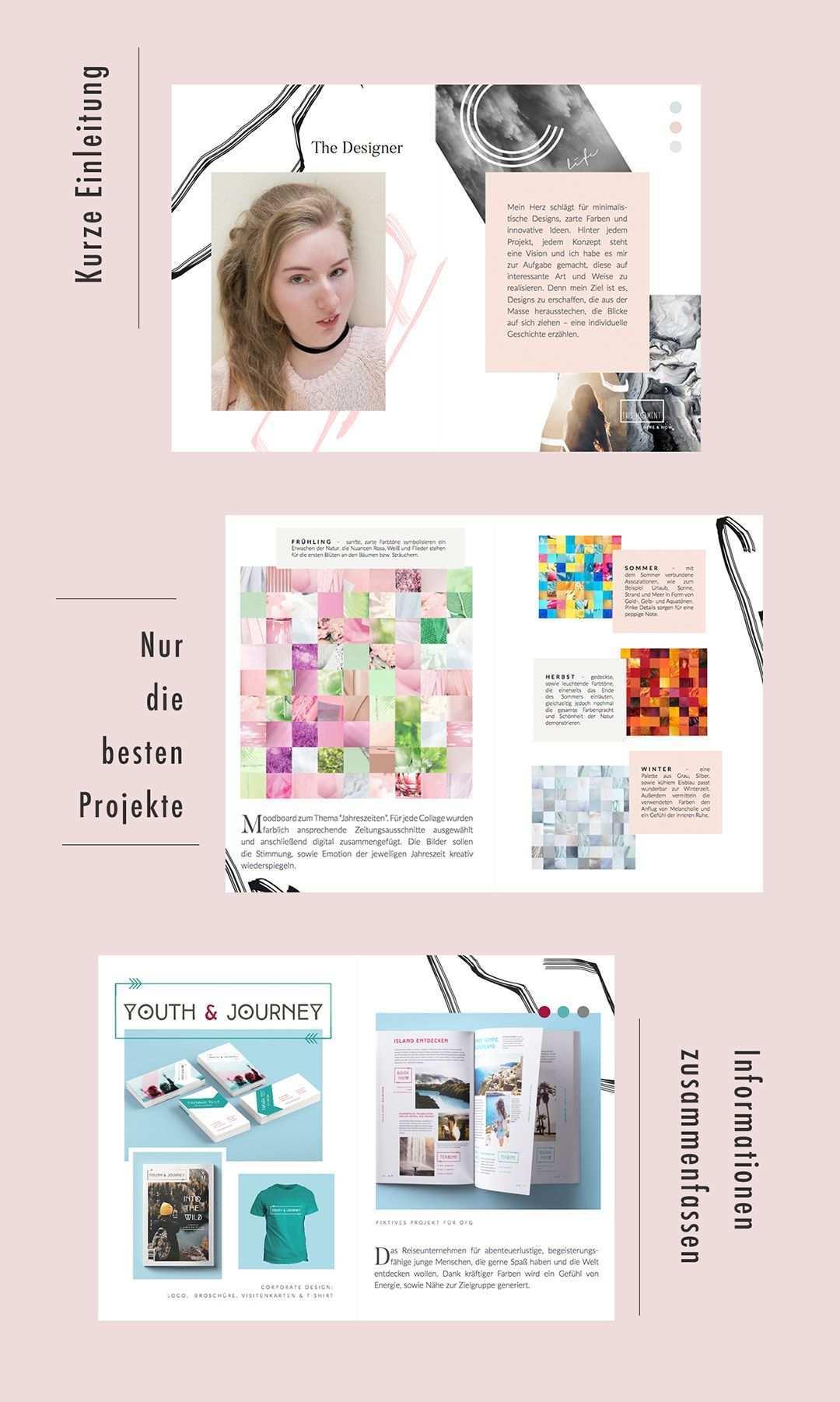 Das Gehort In Ein Aussagekraftiges Portfolio Portfolio Portfolio Graphic Design Portfolio Ideen
