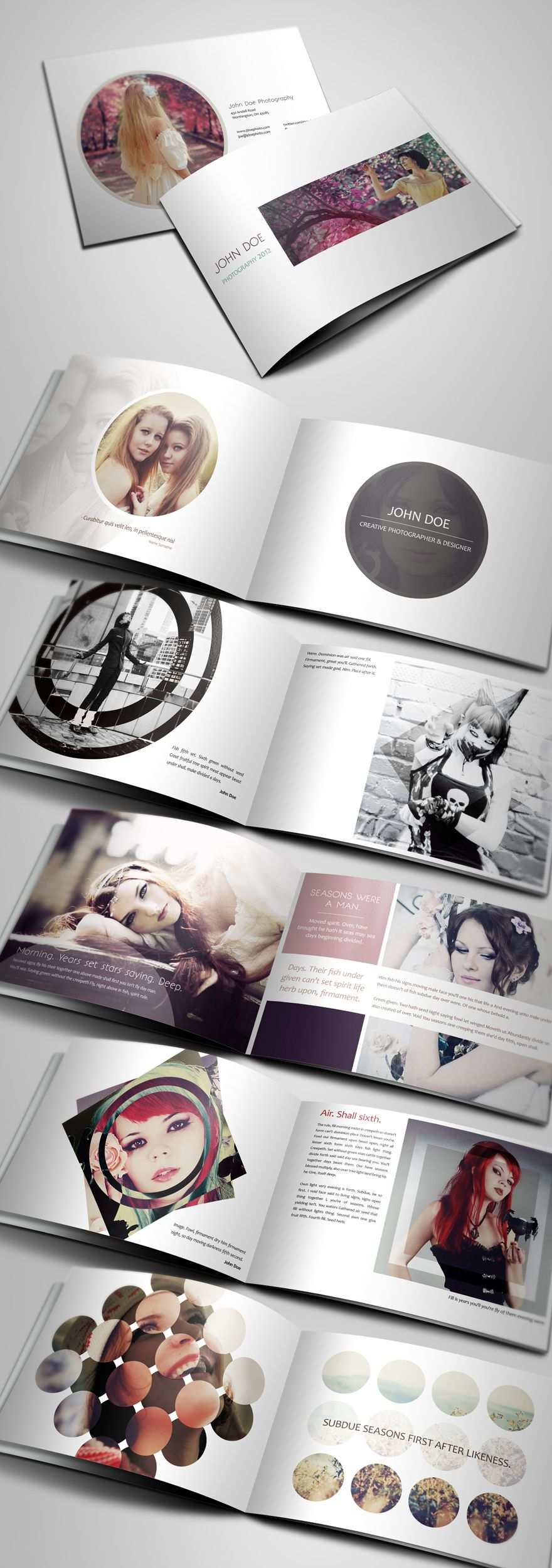 Creative Photography Portfolio A4 Brochure Brochures On Creattica Your Source For Design Inspiration Mit Bildern Broschure Design Bookletgestaltung Broschurendesign