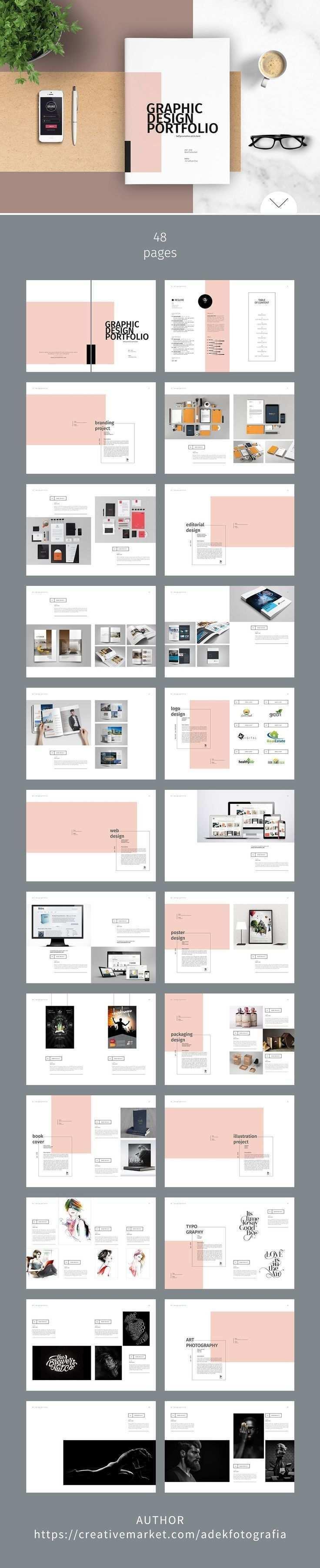 Graphic Design Portfolio Template Brochures Simple Layout Portfolio Portfolio Design Layouts Portfolio Design Grafik Design