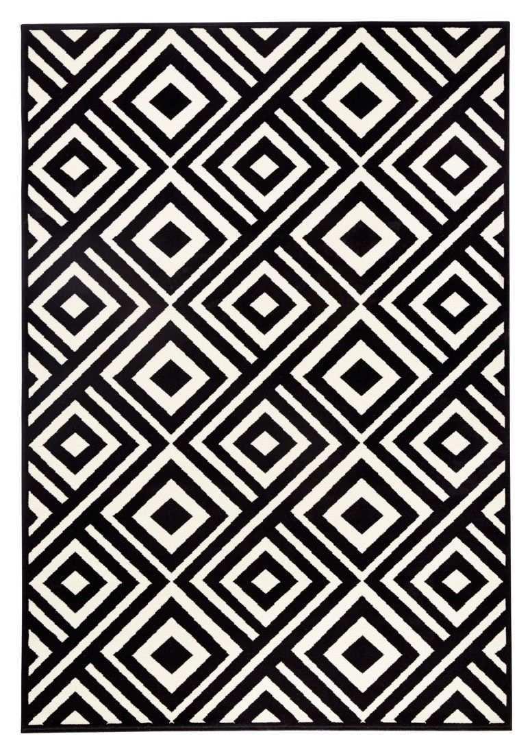 Zala Living Design Teppich Capri Schwarz Creme Graphische Muster Teppich Geometrisch Geometrisch