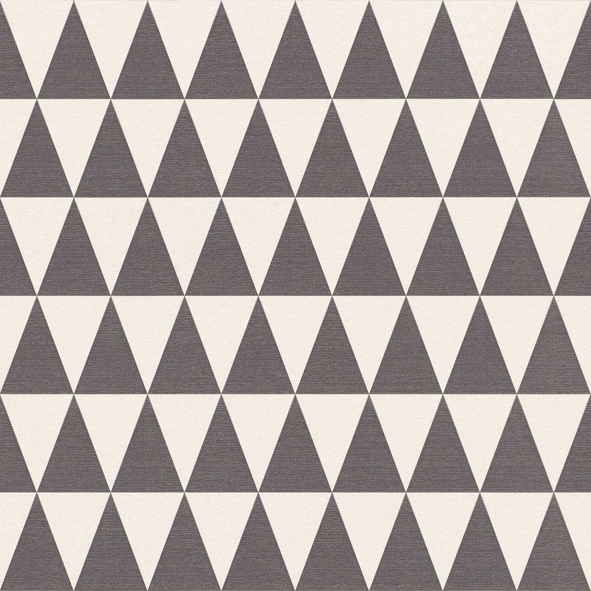 Vliestapete Dreieck Muster Schwarz Weiss 148672 Rasch Textil Tapeten Ausgefallene Tapeten