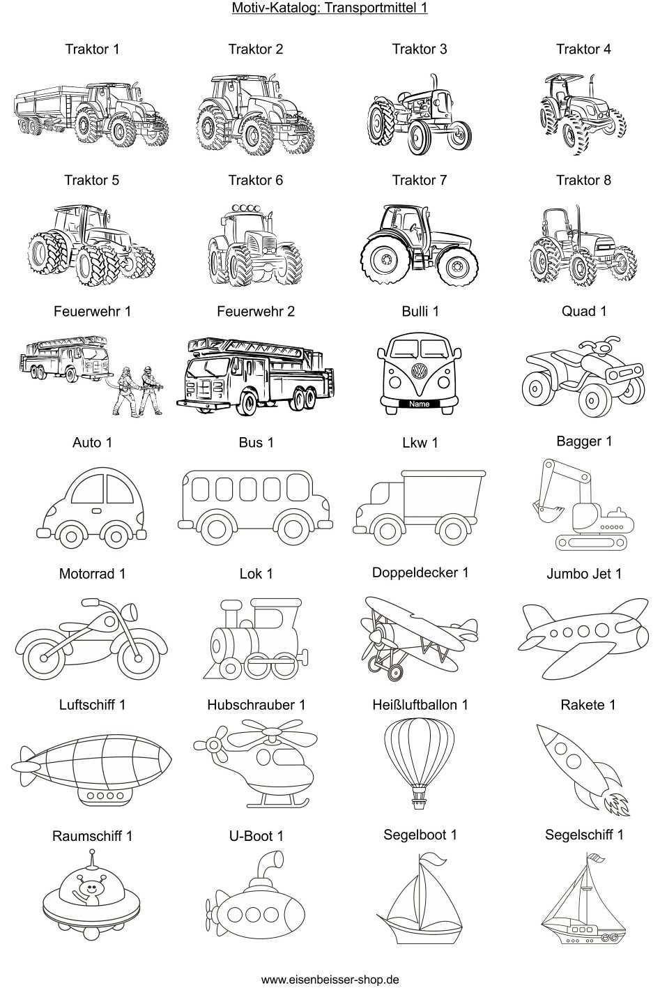 Lasergravur Vorlage Transportmittel Traktor Auto Und Flugzeuge Auf Holz Gravieren