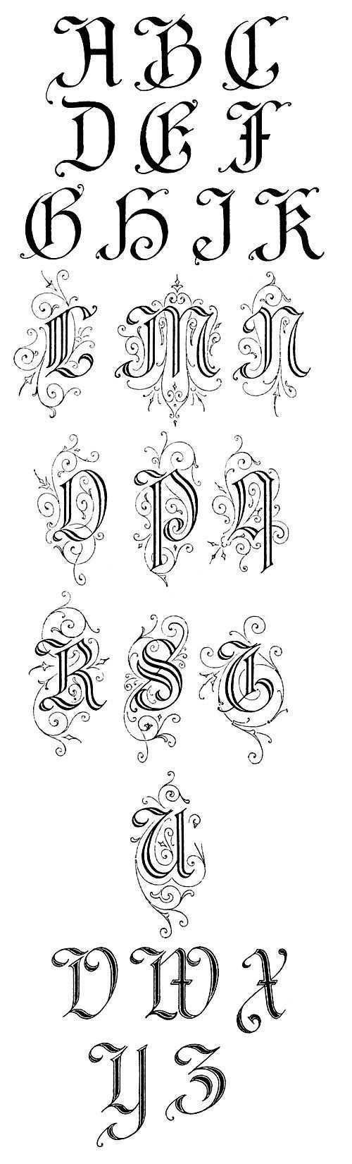 Gothic Alphabets Karen S Whimsy Buchstaben Schriftarten Alphabet Buchstaben Gotisches Alphabet