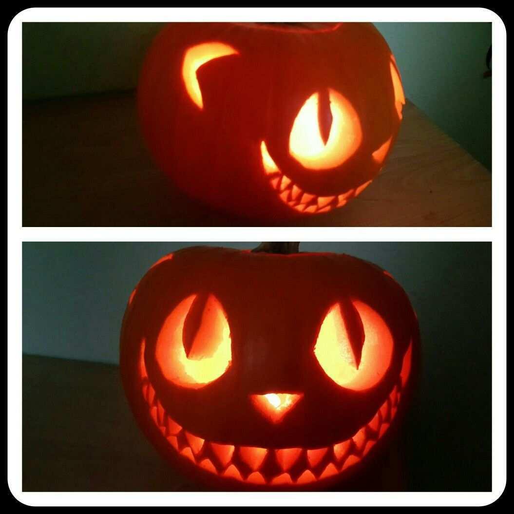 Grinsekatze Kurbis Pumpkin Carving Halloween Pumpkins Pumpkin