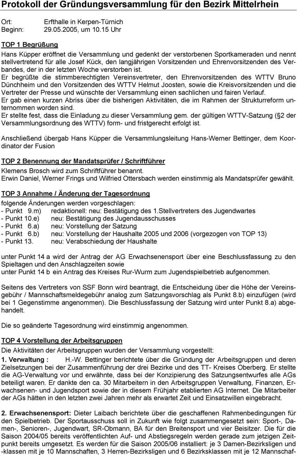 Protokoll Der Grundungsversammlung Fur Den Bezirk Mittelrhein Pdf Kostenfreier Download