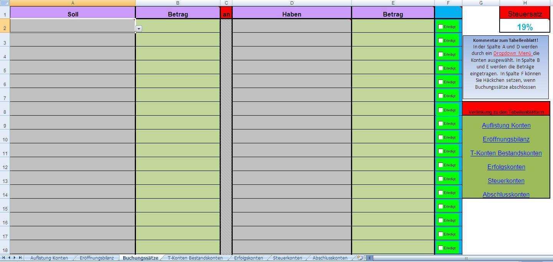 Excel Tool Doppelte Buchfuhrung Fur Buchhaltungs Ubungen Reimusnet Elopage