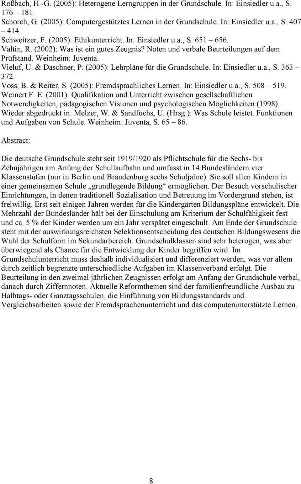 Gabriele Faust Die Grundschule In Deutschland Pdf Kostenfreier Download