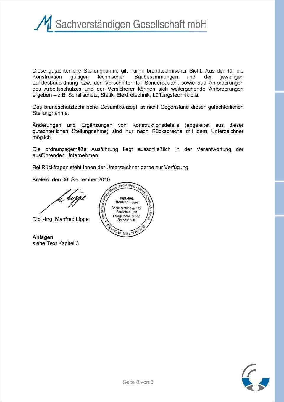 Thema Gutachterliche Stellungnahme Zur Brandschutztechnischen Bewertung Beim Einbau Von Sita Dacheinlaufen Seite 1 Von 8 Pdf Free Download