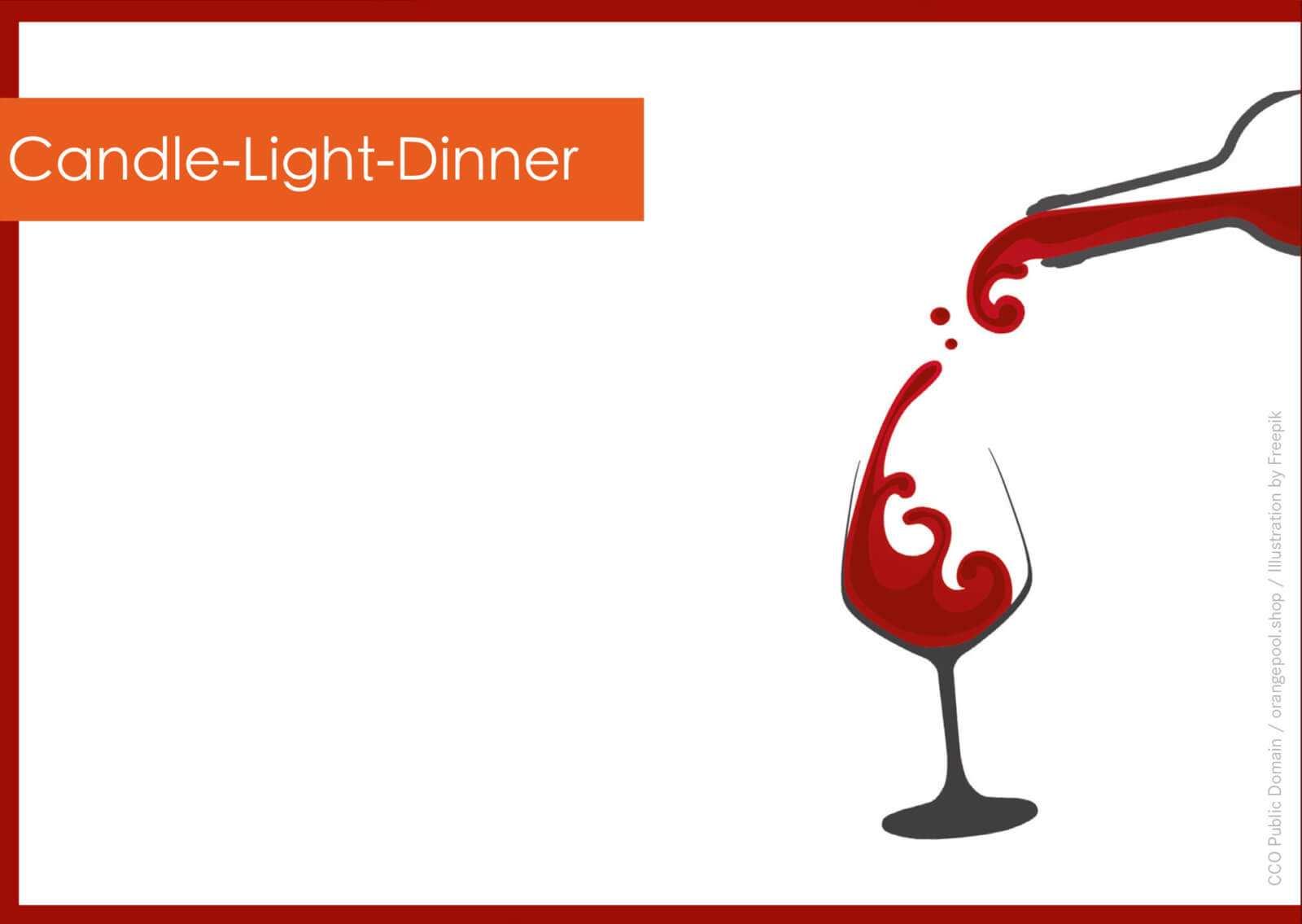 Geschenkgutschein Candle Light Dinner Kostenlose Vorlage
