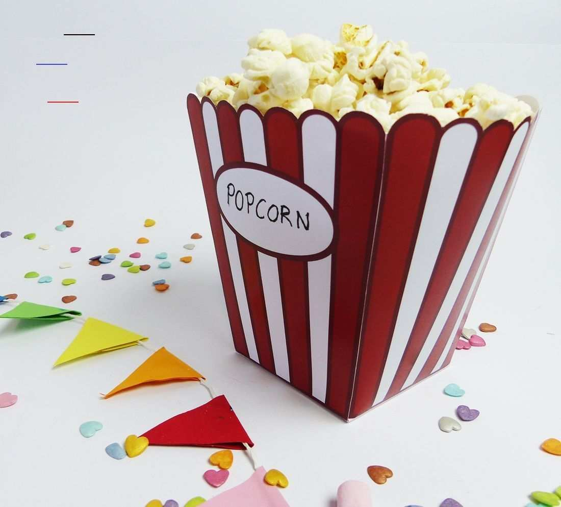 Popcorn Tute Fur Snacks Beim Heimkino Balloonas Com Kinoboxgeschenk Kino Spass Fur Zuhause Mit Der Popco In 2020 Diy Popcorn Paper Crafts Diy Candle Light Dinner