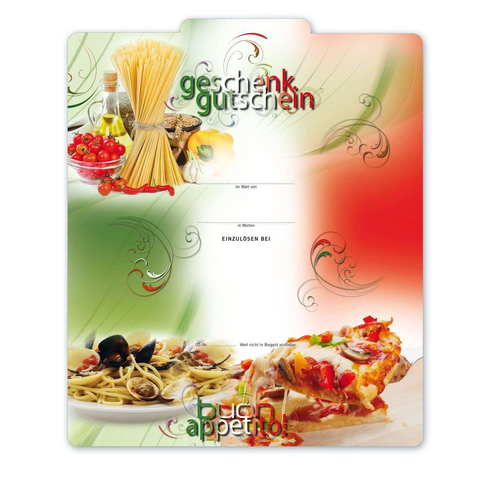 Gutschein Fur Den Italiener Italianfood Essen Italienischessen Restaurant Pizza Pasta Italienische Gerichte Lebensmittel Essen Gutschein Verpacken Essen