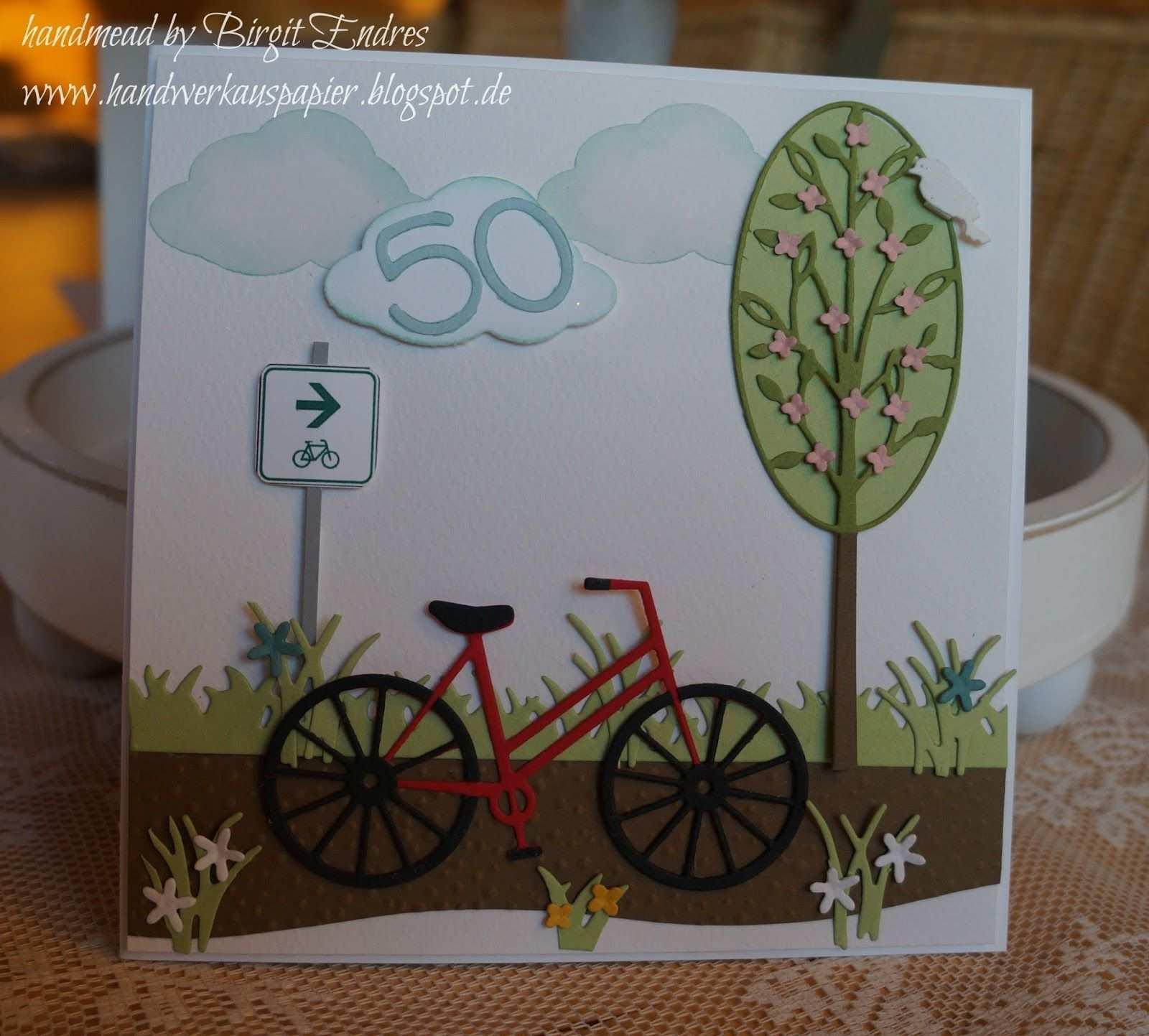 Heute Stand Mal Wieder Eine Auftragskarte Auf Dem Terminplan Zum Gutschein Fur Ein Ne Geburtstagskarte Basteln Fahrrad Fahrrad Basteln Geburtstag Basteln Mann