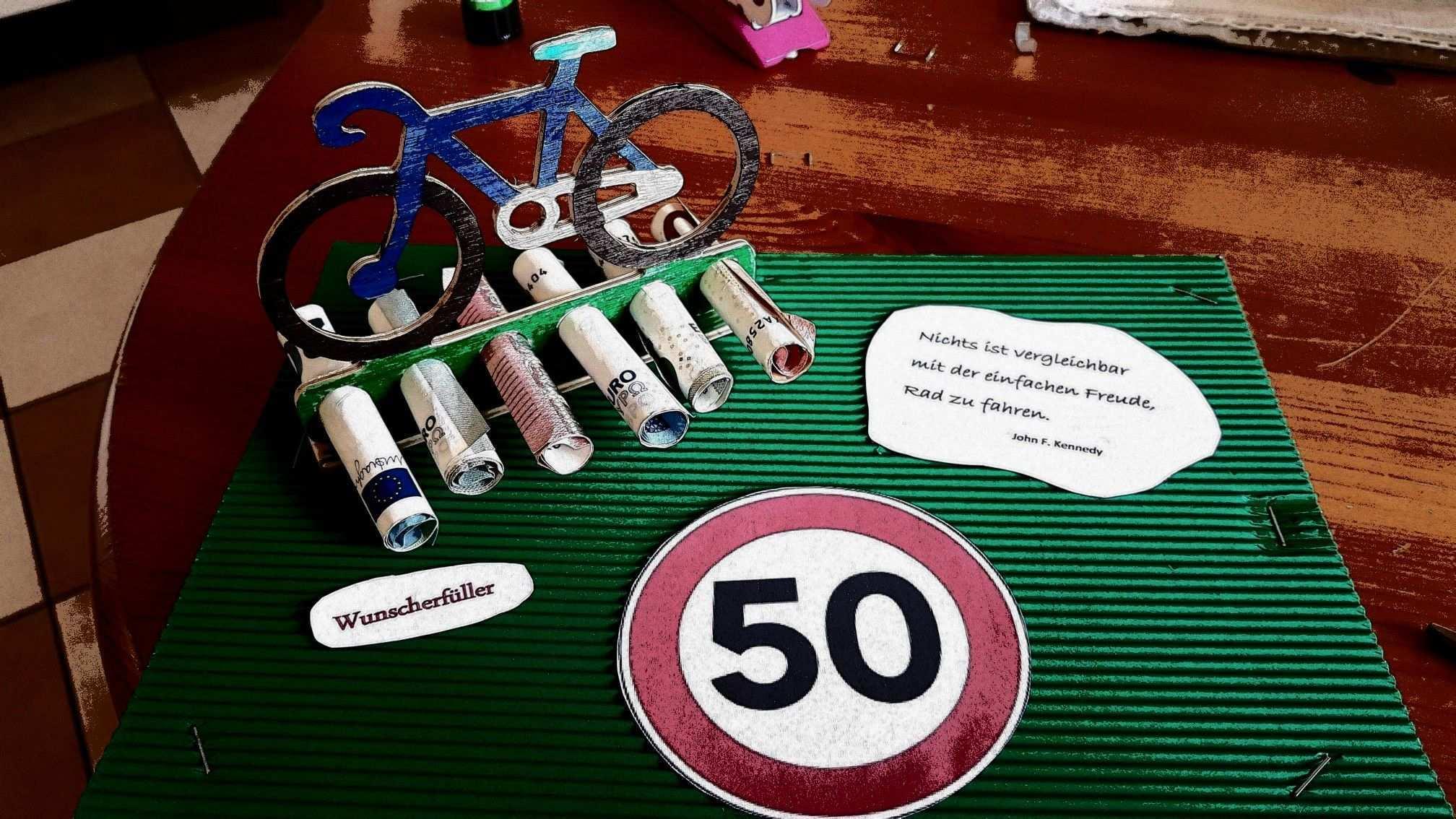 Gutschein Fur Fahrrad Zum 50 Geburtstag