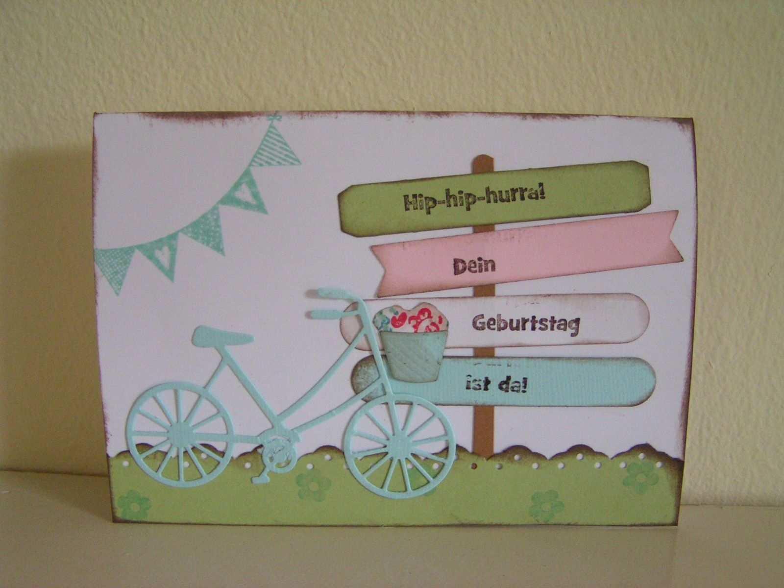 Geburtstagskarte Mit Fahrrad Von Memorybox Geburtstagskarte Fahrrad Basteln Karten