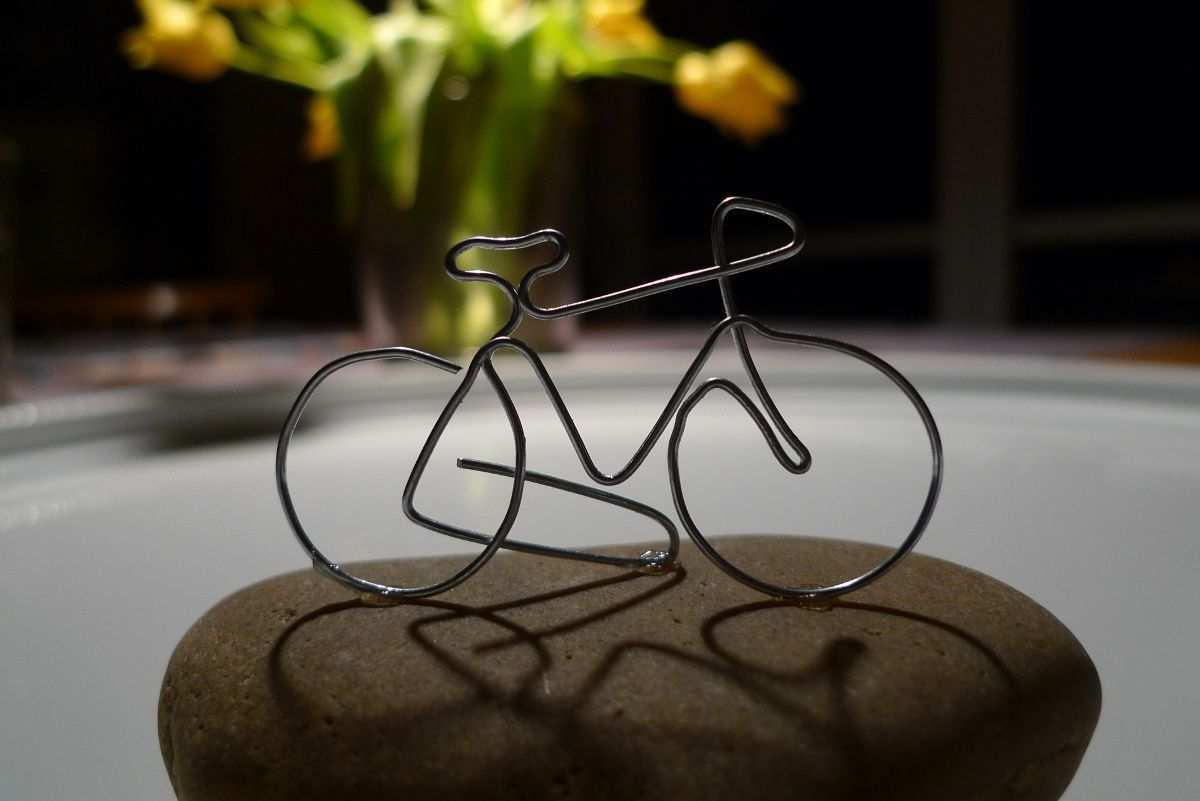 Fahrrad Aus Draht Gebogen Karin Urban Natural Style Fahrrad Basteln Geldgeschenk Fahrrad Basteln Fahrrad Gutschein