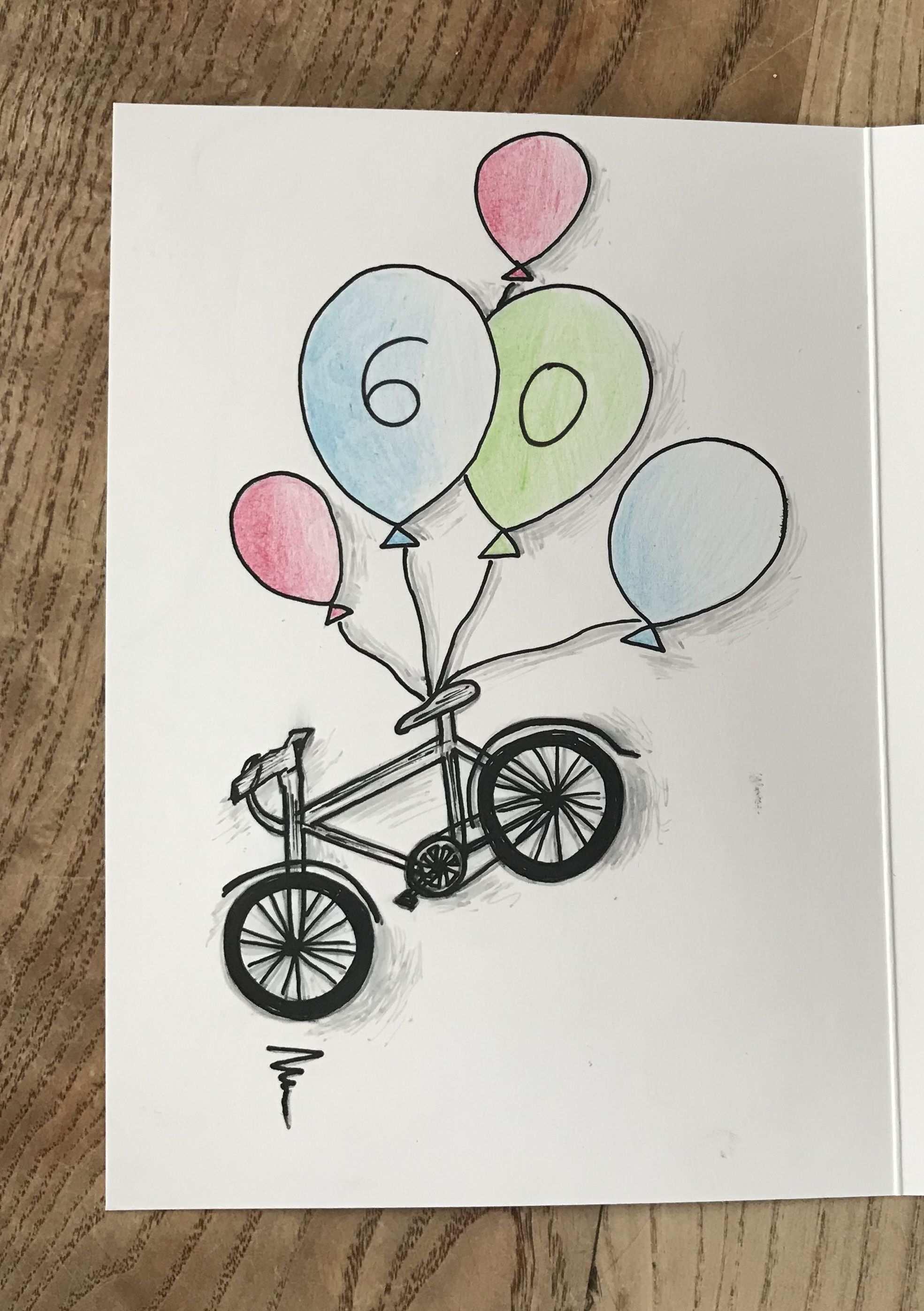 Draw Drawing Birthdaycards Geburtstagskarte Fahrrad Zeichnen Geburtstag Geburtstagskarte Basteln Fahrrad Geldgeschenk Fahrrad Basteln Geburtstagskarte
