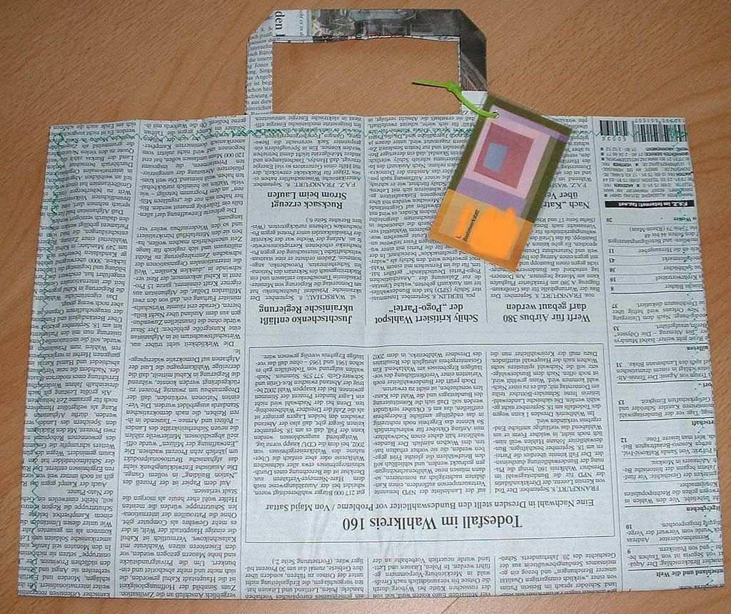 Zeitungs Tasche Alte Zeitung Alter Und Zeitung