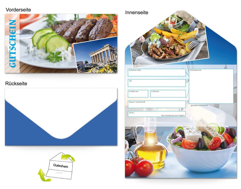 Motiv Traditionell Griechisch Gutscheinvorlagen Gutscheine Griechisches Essen Gutschein Vorlage