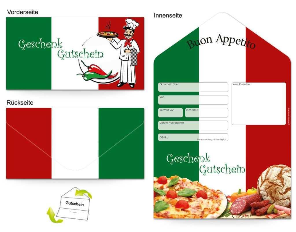 Motiv Pizza Italia Gutscheinvorlagen Gutscheine Gutschein Vorlage Geschenkgutscheine