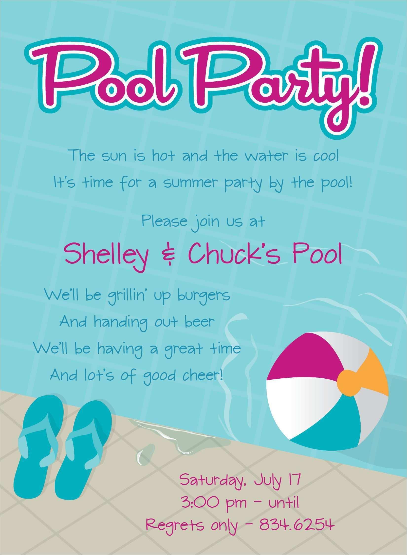 Einladung Geburtstagsparty Schwimmbad Einladung Kindergeburtstag Text Einladung Kindergeburtstag Texte Geburtstag