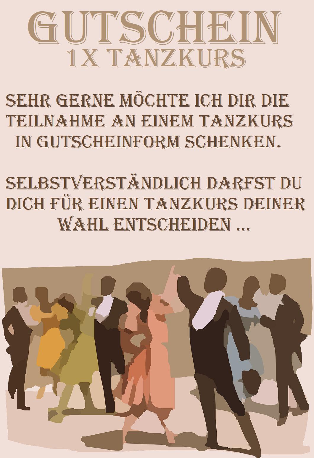 Gutscheinvorlage Furs Tanzen Gutschein Vorlage Vorlagen Gutscheine