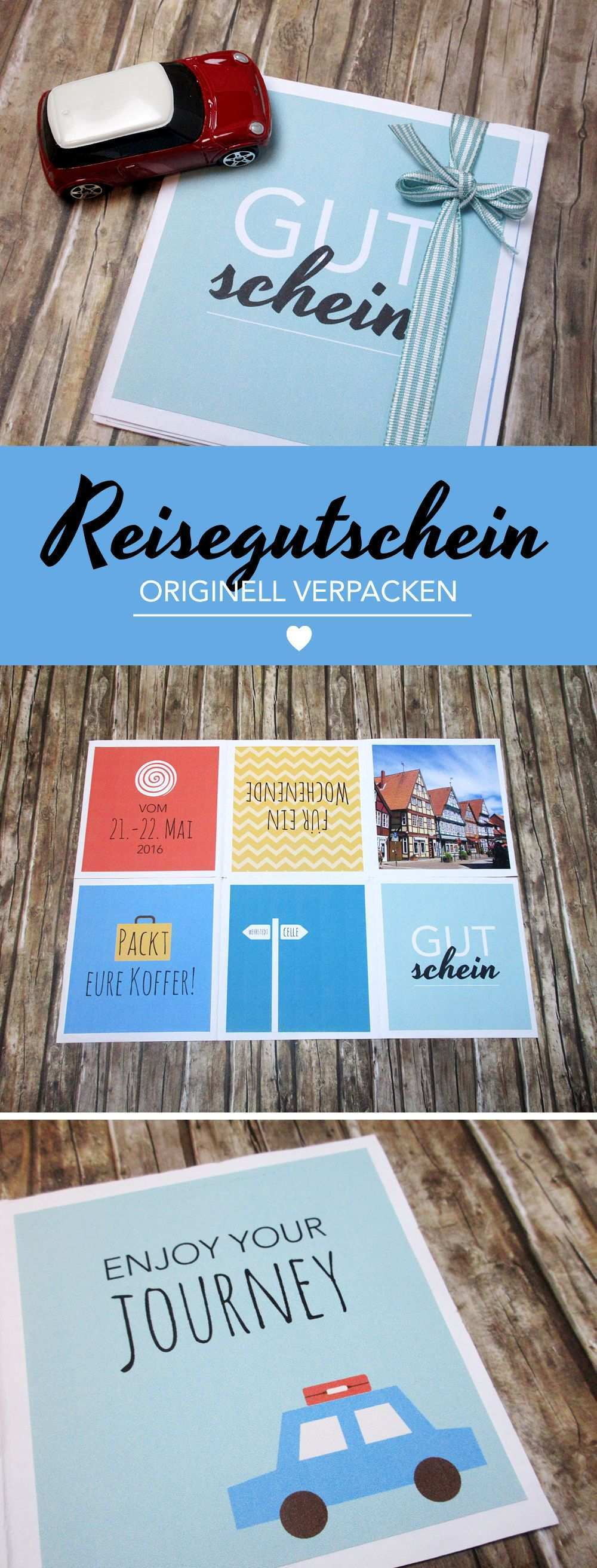Einen Reisegutschein Originell Verpacken Gifts Of Love Reisegutschein Gutschein Verpacken Reise Geschenke Verpacken Gutschein