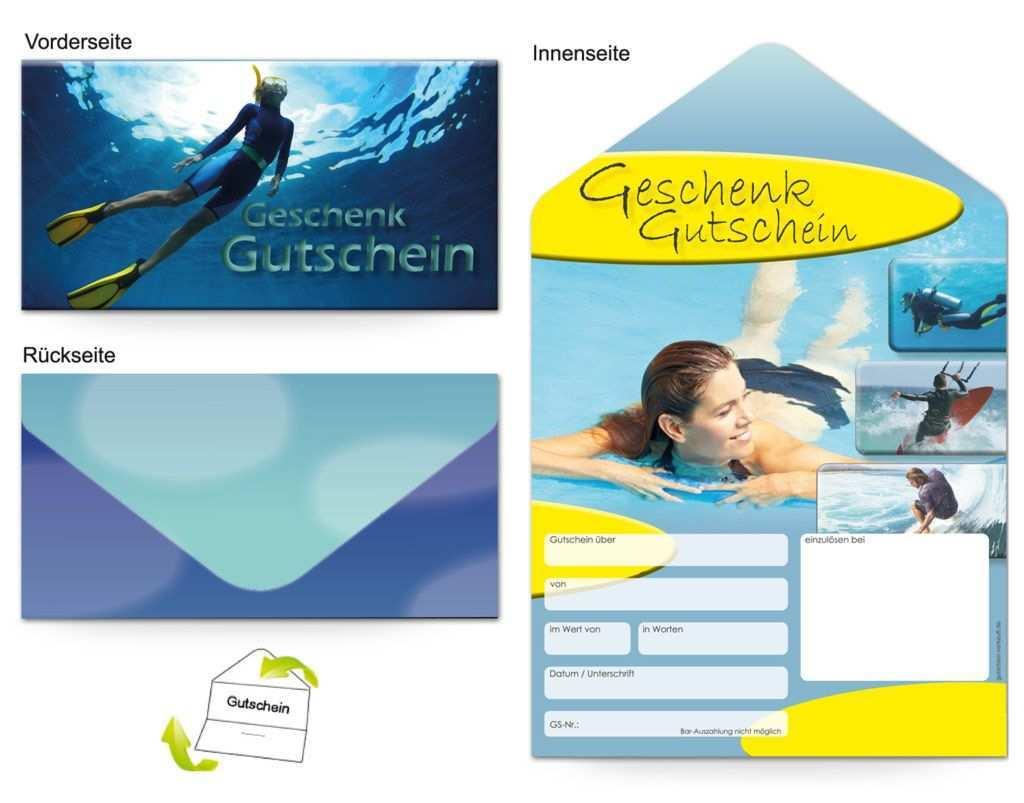 Motiv Wassersport Gutscheinvorlagen Gutscheine Gutschein Vorlage Geschenkgutscheine