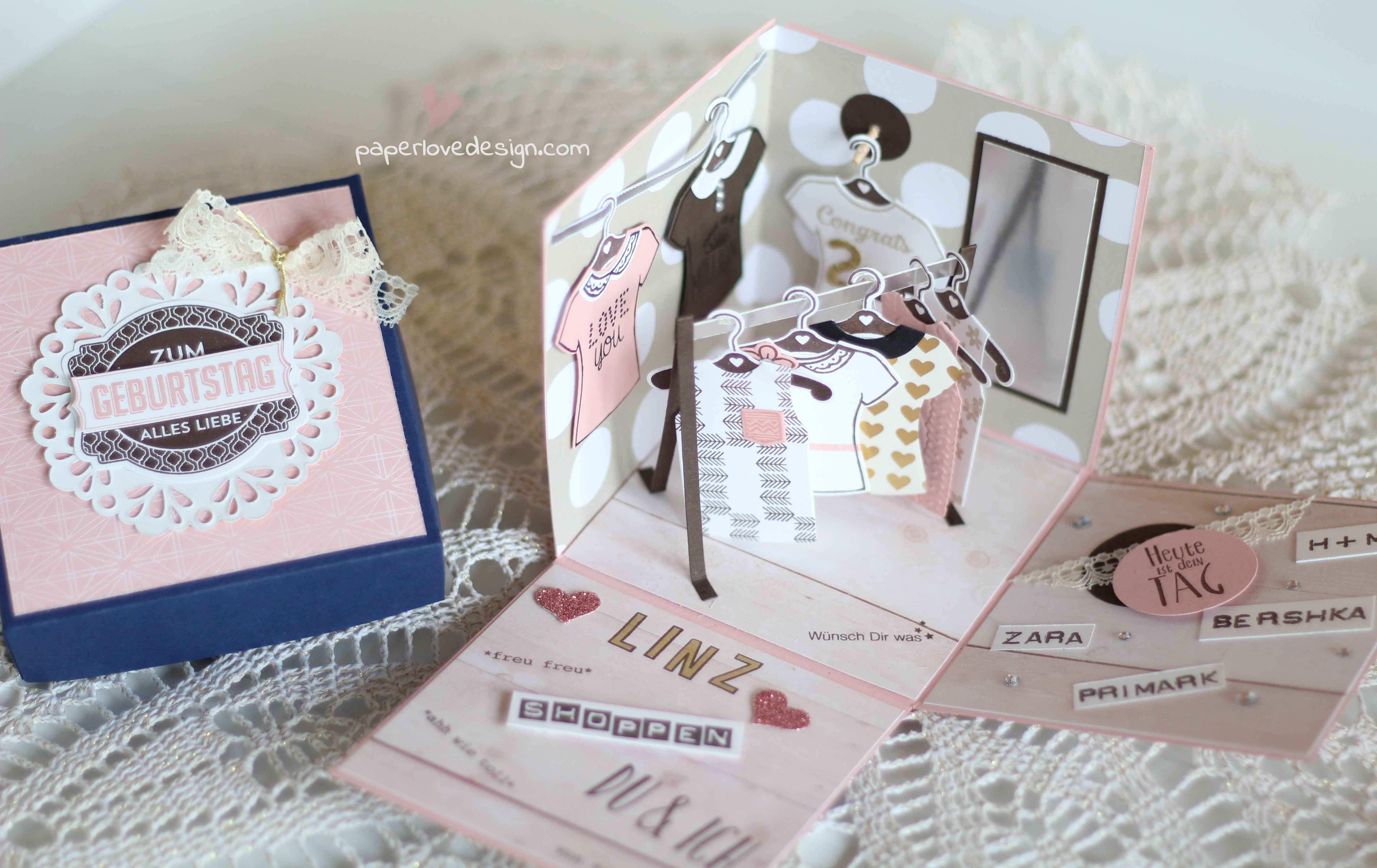 Stampin Up Blog Und Produkte Bei Stempelwiese Geschenke Gutschein Basteln Shopping Geschenkbox Basteln