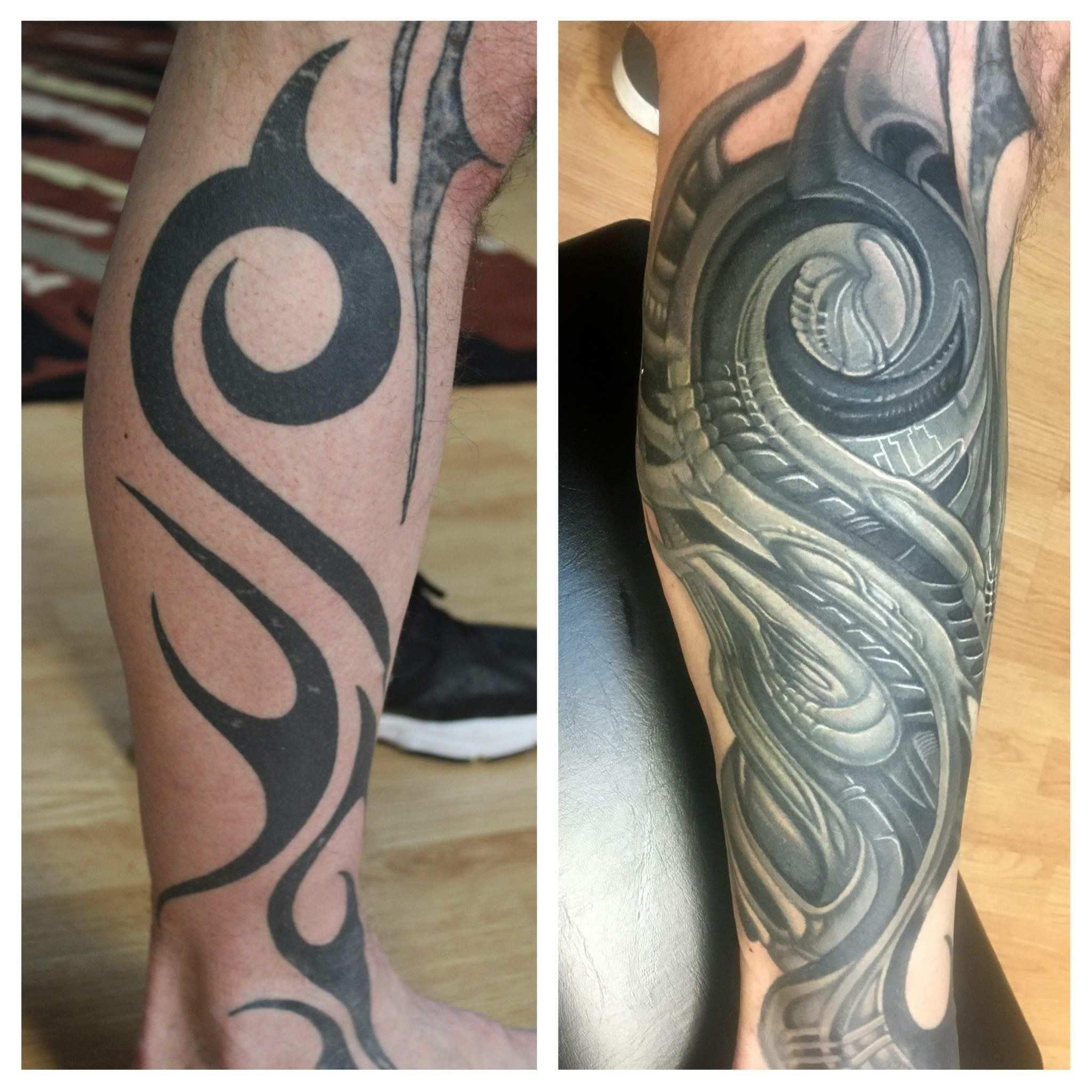Tribal To Biomechanics Tatuagens Tatoo Tatuagem Masculina