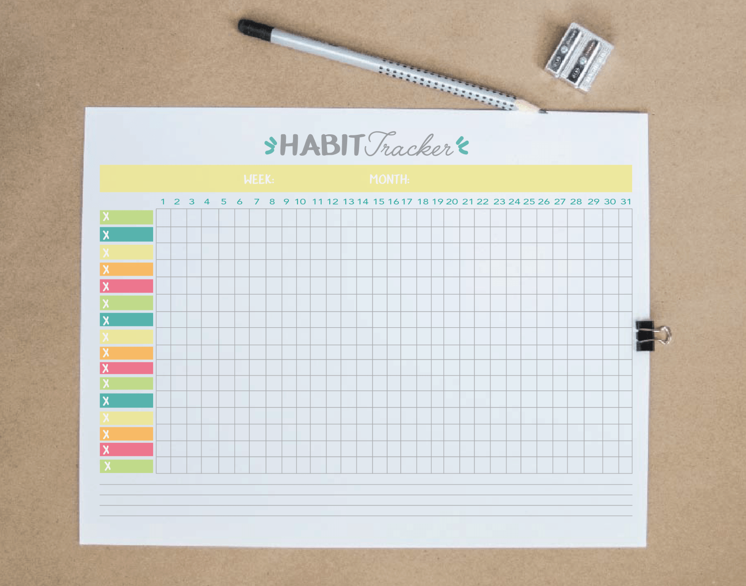 Free Printable Habit Tracker Pdf The Ultimate Habit Tracker Guide Habit Tracker Bullet Journal Bullet Journal Layout Bullet Journal Tracker