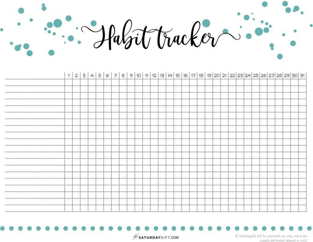 40 Ideas To Track In Your Habit Tracker Free Printable Tracker Free Habit Tracker Printable Planner Pages