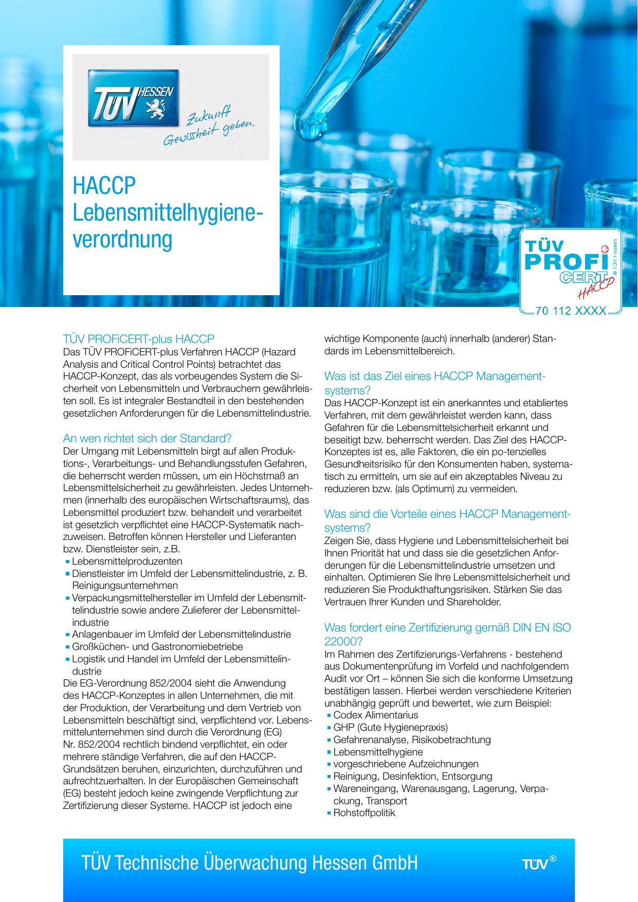 Haccp Lebensmittelhygiene Verordnung