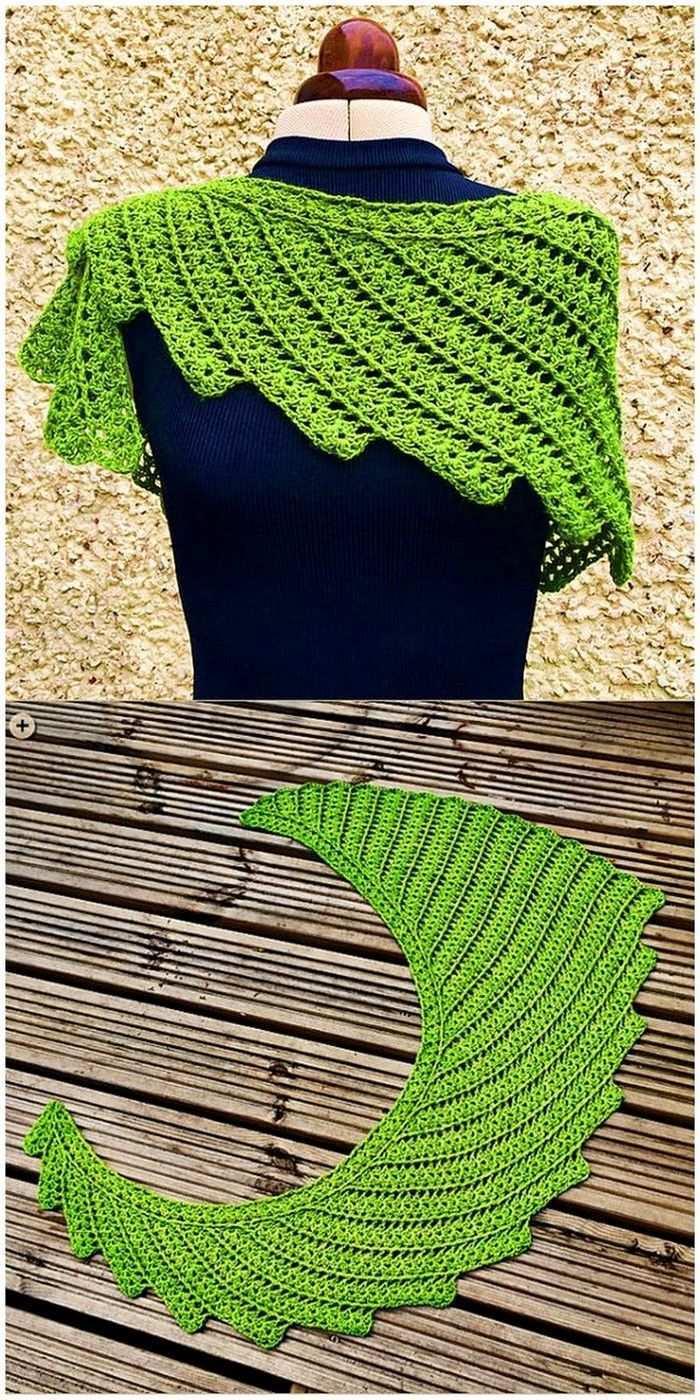 Crochetscarves Drachenschwanz Hakeln Hakeln Designs Stola Hakelmuster