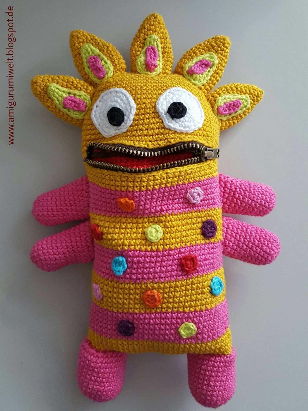 Amigurumi Hakeln Crochet Kostenlos Free Monster Monster Hakeln Tiere Hakeln Anleitung Kostenlos Deutsch Tiere Hakeln Anleitung Kostenlos