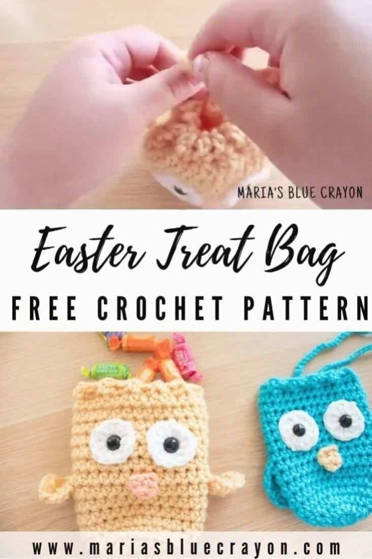 Hakeln Sie Ostern Kuken Behandeln Tasche Muster In 2020 Oster Hakelanleitungen Crochet Easter Hakeln Spielzeug Muster