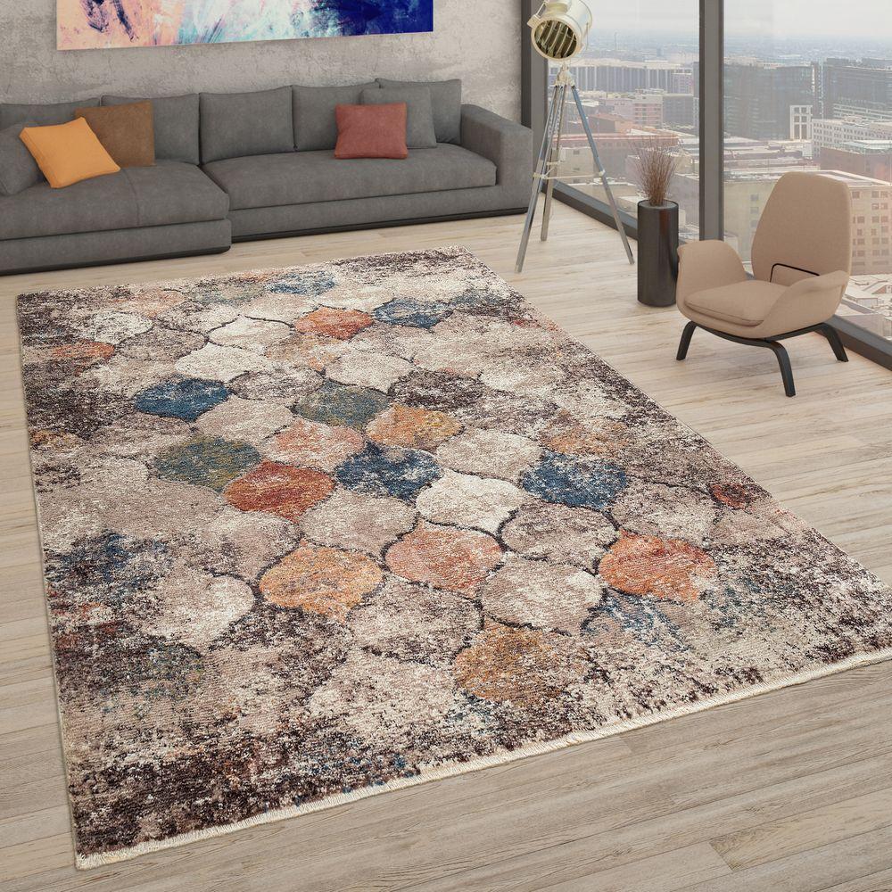 Orient Teppich Marokkanisches Design Bunt Marokkanisches Design Wohnzimmer Bunt Zeitgenossische Teppiche